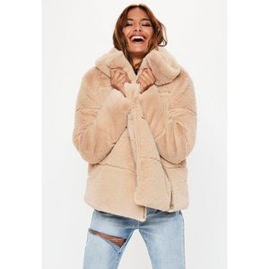 NWT! Missguided Oversized Faux Fur Puffer Jacket